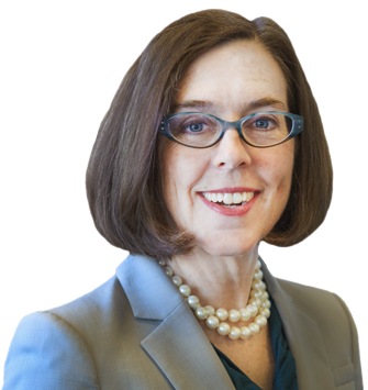 Governor Kate Brown as she appears on her website