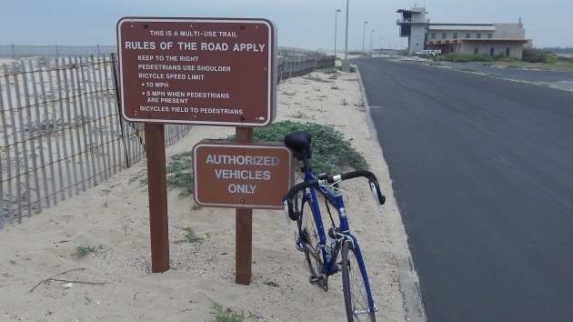 Rules were hardly necessary here when hardly anyone was on the beach.