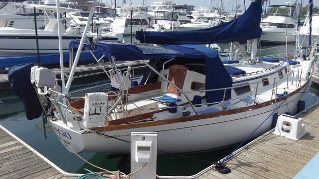 If I had a boat like this, I'd be tempted to take it out and sail it, daylight time or no daylight time.