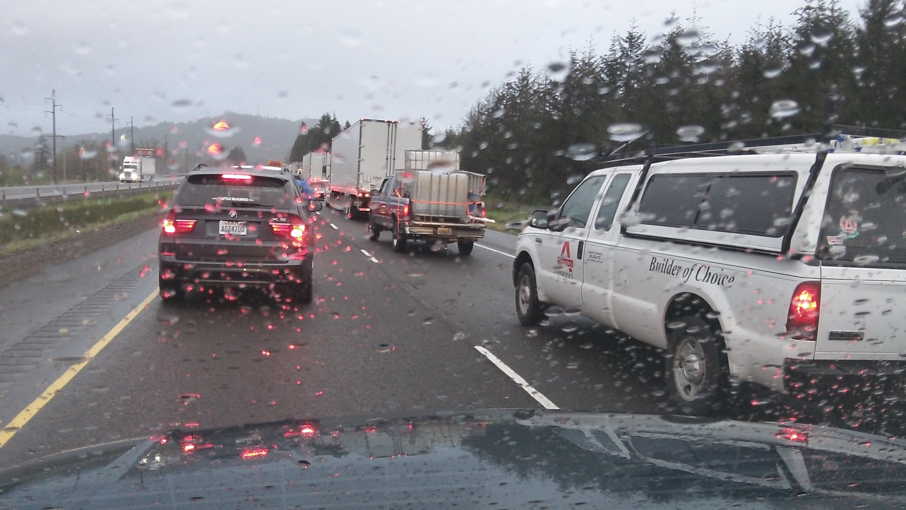 When you're stuck on I-5, some information would help.