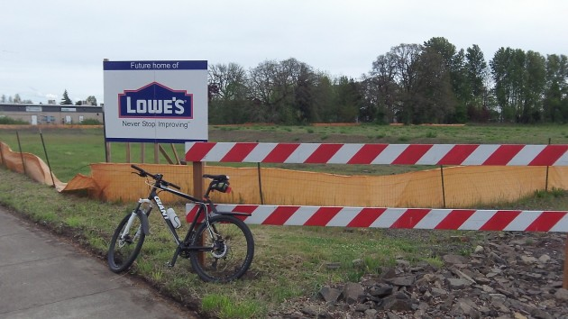 The Lowe's site on Ninth in Albany was still awaiting construction Friday.