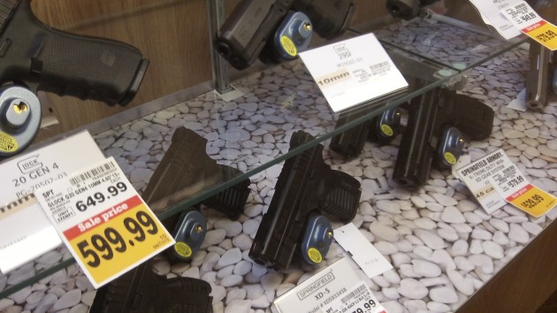 In a display case at Fred Meyer, guns are easy to find. In a search under SB 525, not so much.