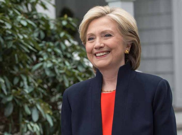 Hillary Clinton as she appears on her campaign website.