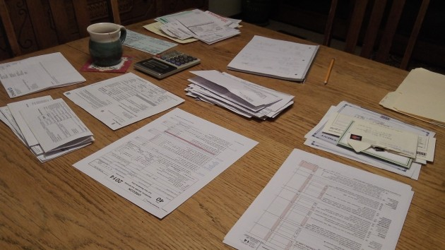 Tax filing time: Isn't all that paperwork and arithmetic a lot of fun?