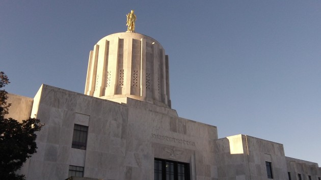 The Oregon Capitol, where liberty takes a back seat.