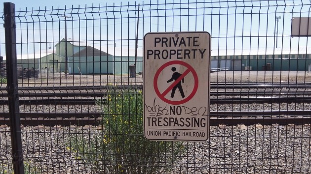 In case the fence is not enough to get the message across.