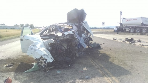Wednesday's double fatal on Highway 34, a road the rejected bill tried to make safer. (OSP photo)