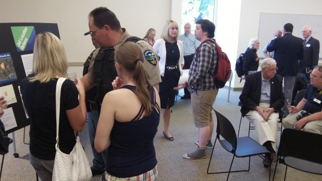 The open house on Benton's jail plans drew a smattering of people.