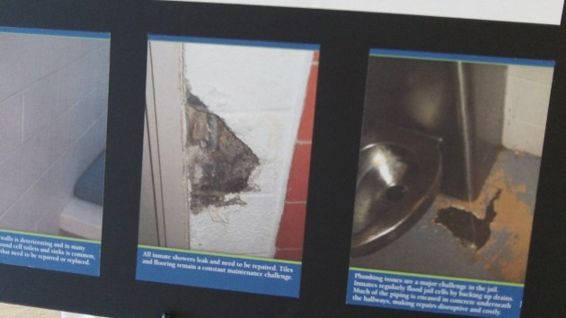 Display shows some of the Benton jail's bad conditions.