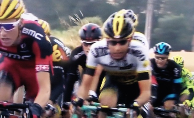 Riders race across northern France on Wednesday (as seen on NBC Sports), not at all interested in who pays for Oregon bike facilities.