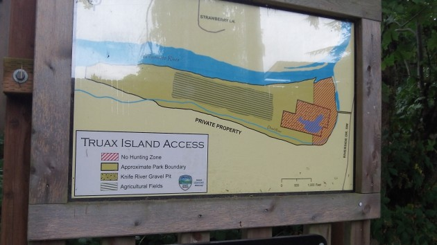 Signboard at the entrance maps the lay of the land.