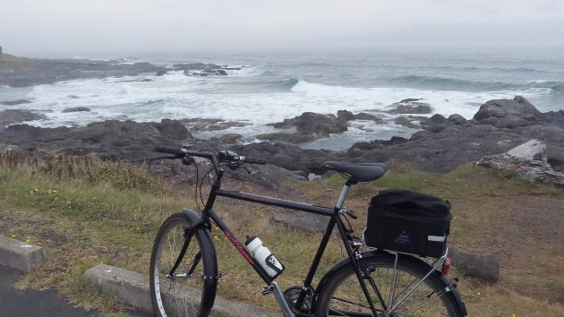 On the cool coast near Yachats, where global warming makes frequent exceptions.