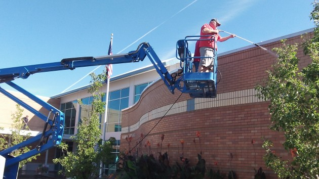 Pressure from on high: City Hall gets hosed.