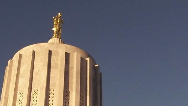 The Oregon Capitol, where foreign languages are not a frequent problem.
