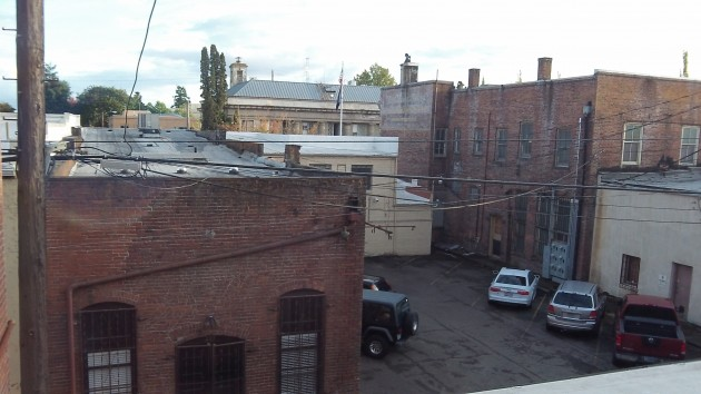 What you can see from a downtown rear window.