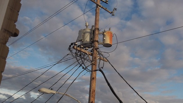 All those wire may be ugly, but we can't live without the electricity they bring.