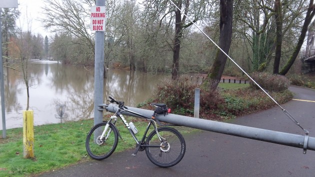 As usual, high water has changed one of my bike routes, which normally includes Bryant Park.