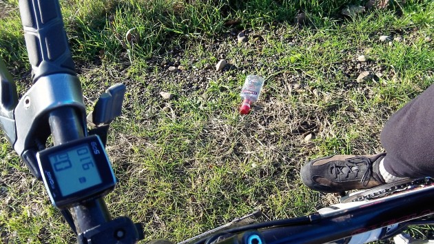 A vodka drinker left this by the side of Buena Vista Road.