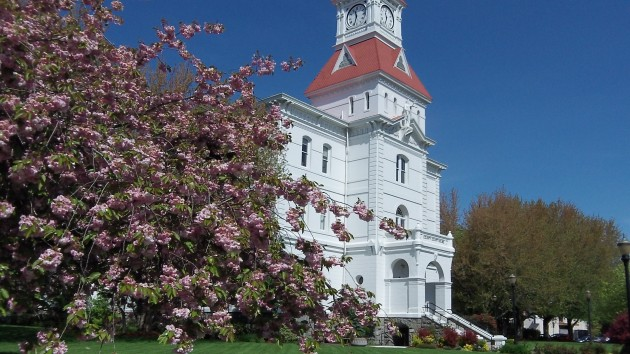 The Benton County Courthouse, a beloved Corvallis landmark.
