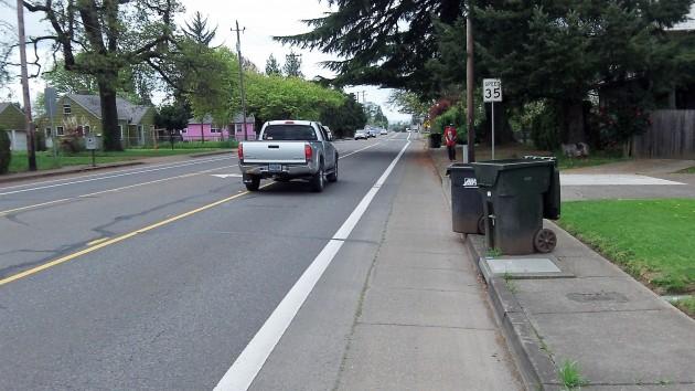 The Salem avenue bike lane was clear, but the sidewalk wasn't.