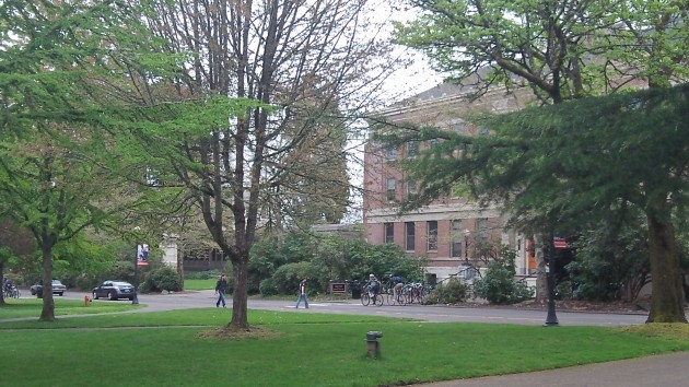 On the campus at Oregon State University.