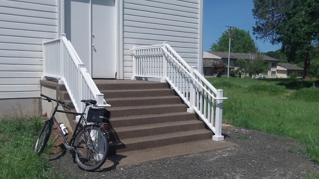 The new stairs caught my eye as I was passing by on a ride.