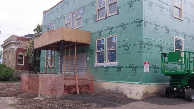 The old Fortmiller Funeral Home already has new windows, among other things.