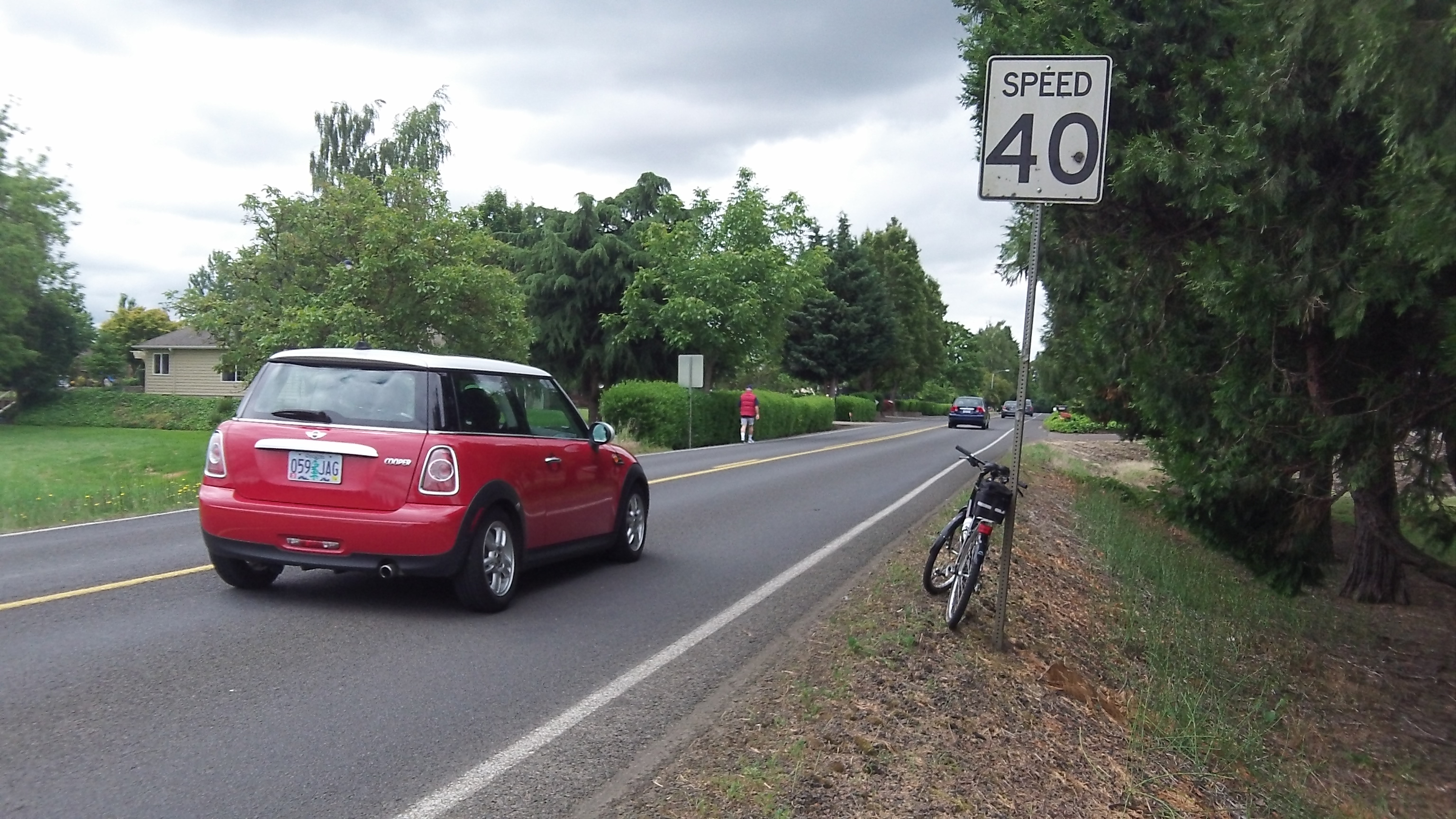 Going south on Spring Hill: The 40-mph speed zone starts here.