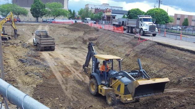Though stopping well short of China, excavation continues Thursday at the Albany Carousel site.