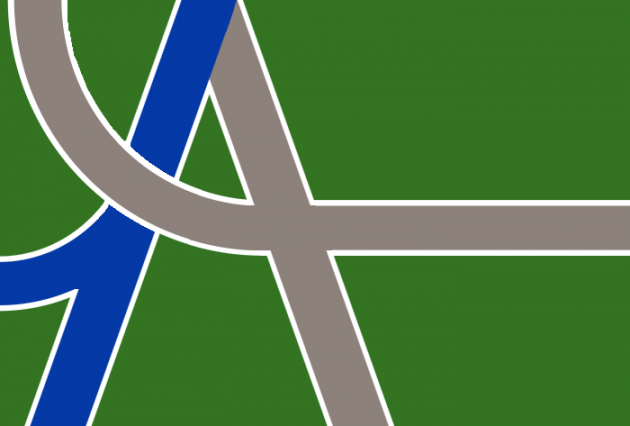Confluence and Crossroads -- that's the motif of the new Albany flag.