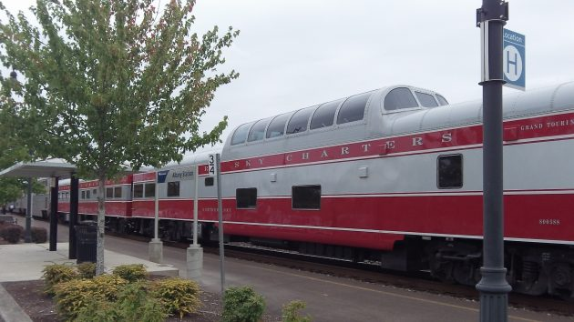 This car, Northern Sky, started out as dome car 9003, built in1955 for the Union Pacific.
