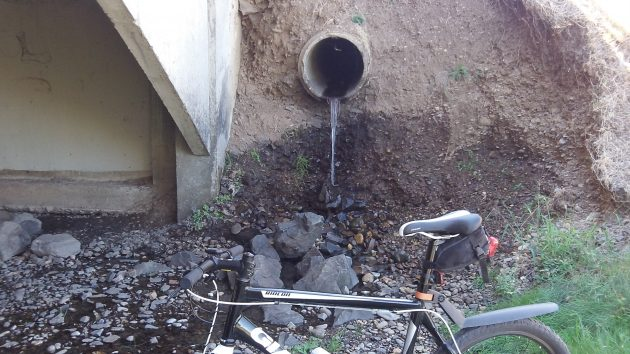This storm drain was draining, but draining what?