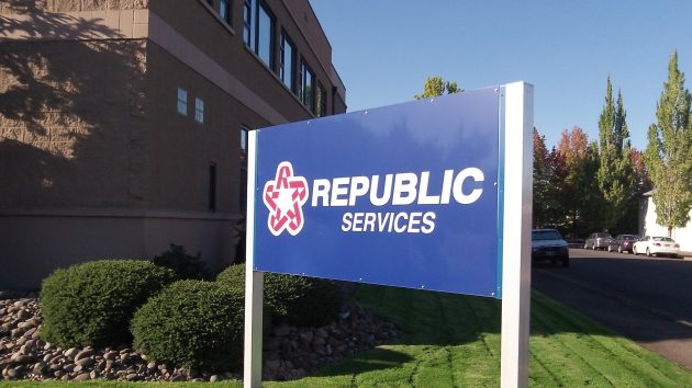 The local headquarters of Republic Services in Albany.