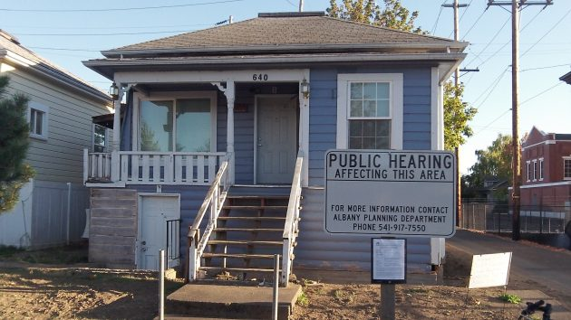 "The ""public hearing"" sign got my attention as I was riding by the other day."