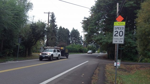 School speed restrictions went up on Spring Hill Drive after school started in September.