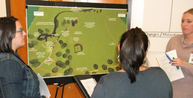 Looking at one of the concepts for improving North Albany County Park.