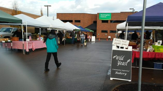 It looked like a slow day at the Albany Farmers' Market's last day of the year.