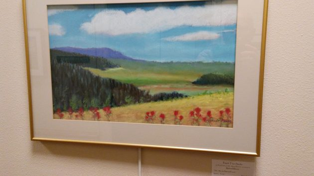 One of Michael Moore's landscapes on display this month.