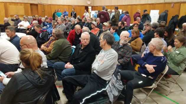 Close to 100 people turned out for Tuesday's forum on the Albany-Corvallis Bikeway idea.