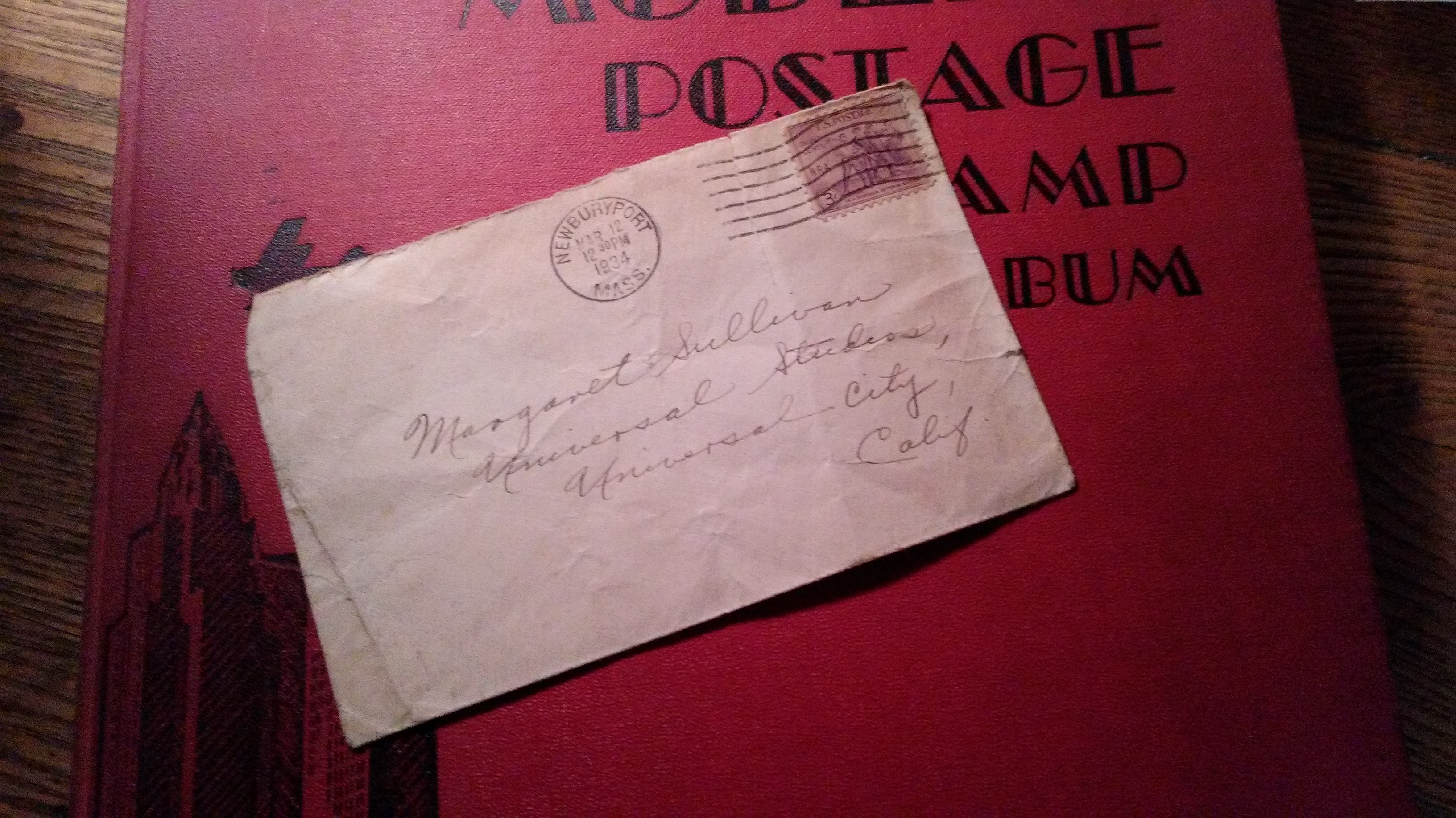 The envelope that sent me looking at old movies.