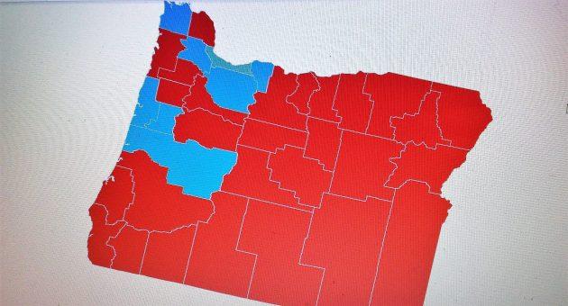 Oregon Political Map By County.No Hope One Senator Per County