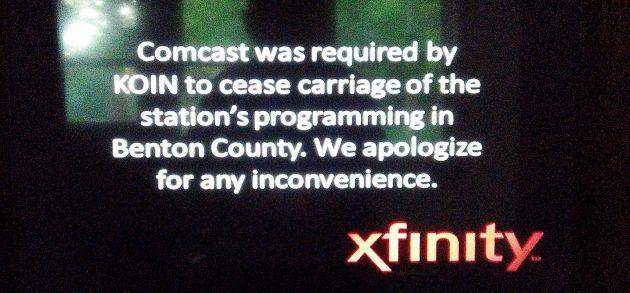 Why the Benton blackout of KOIN?