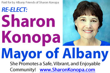 re-elect: Sharon Konopa for Albany Mayor